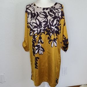 The limited tunic dress mustard yellow abstract lg
